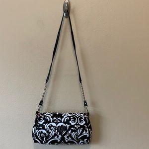 GiGi Hill purse handbag black white paisley
